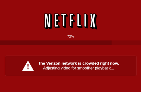 Netflix is making sure customers know whom to blame for slow, grainy video