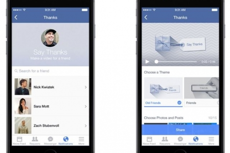 Facebook Lets Users 'Say Thanks' with Personalized Video Cards