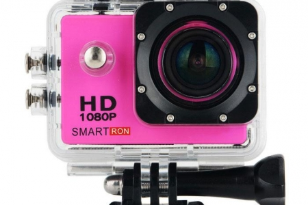 Smartron 1.5″ TFT 170 Degree FHD 1080p Waterproof Action Sport Digital Video Camera – Deep Pink
