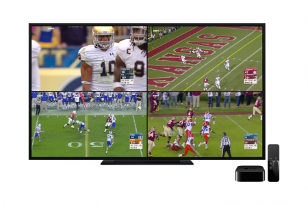 ESPN's new Apple TV app lets you watch four screens of live sports at the same time
