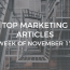 Top 25 Digital Marketing Articles – Week of 11/17/17
