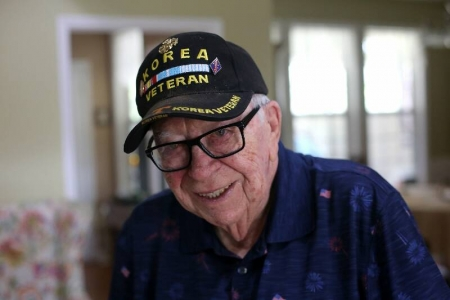 Marine veteran Tommy Thompson saw service in two wars